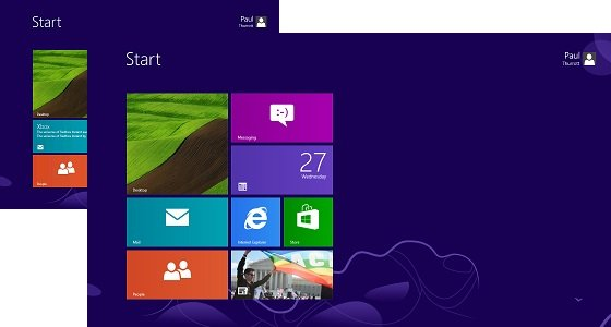 Плитки в Windows 8.1